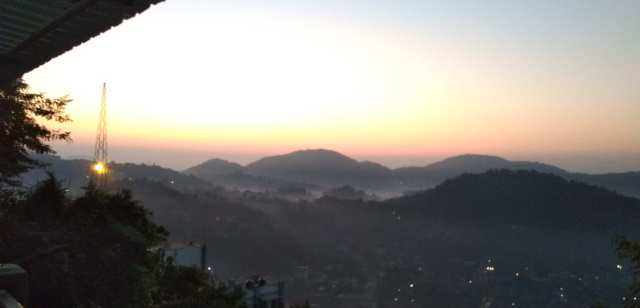 View from Nilachal Hill...